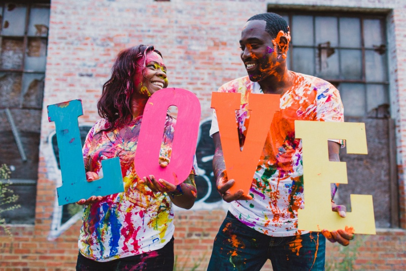 Picture Of playful fun and ccolorful engagement shoot  1