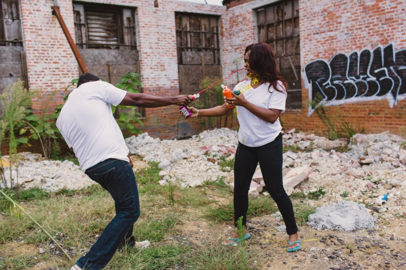 Picture Of playful fun and ccolorful engagement shoot  2