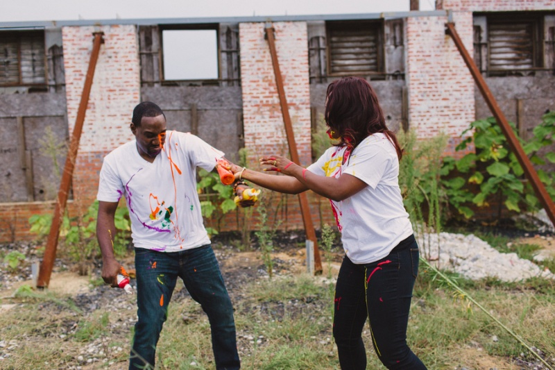 Picture Of playful fun and ccolorful engagement shoot  3