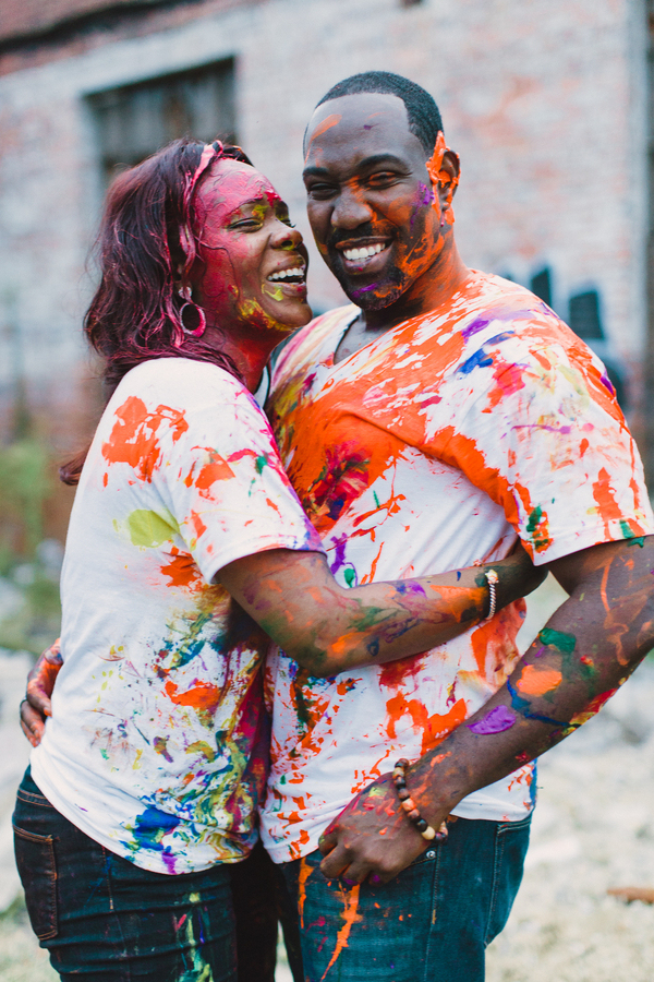Picture Of playful fun and ccolorful engagement shoot  9