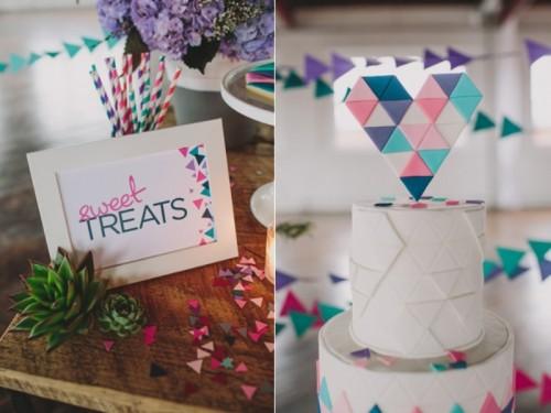 Playful Geometric Styled Wedding Shoot