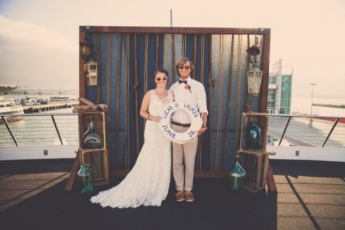 Preppy Nautical Wedding Shoot On A Yacht