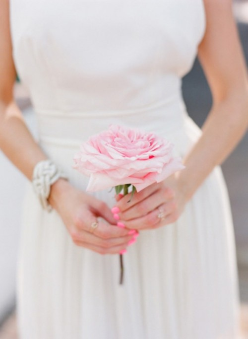 13 Pretty And Pink Trendy Wedding Nails Ideas