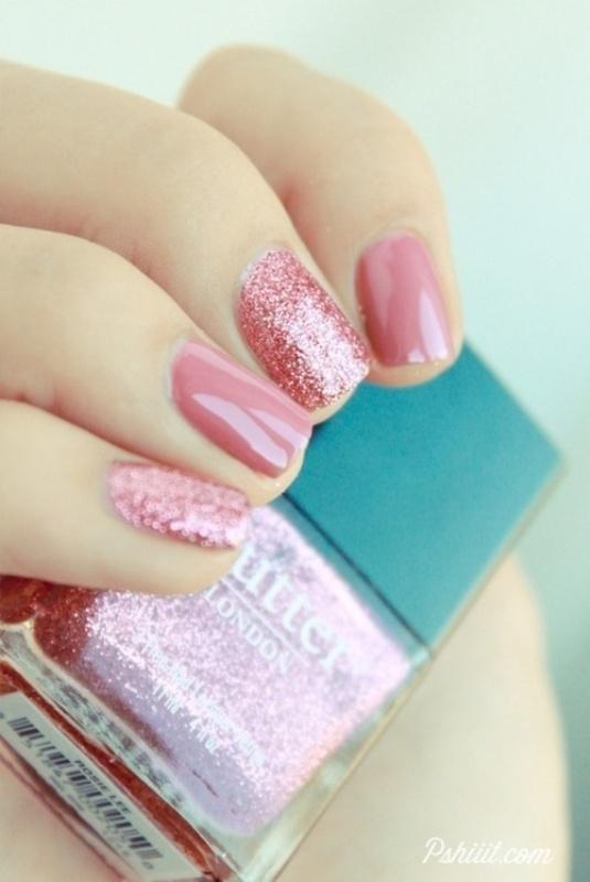 Impressive Pink Design Nails with Sparkles 535 x 800 · 94 kB · jpeg