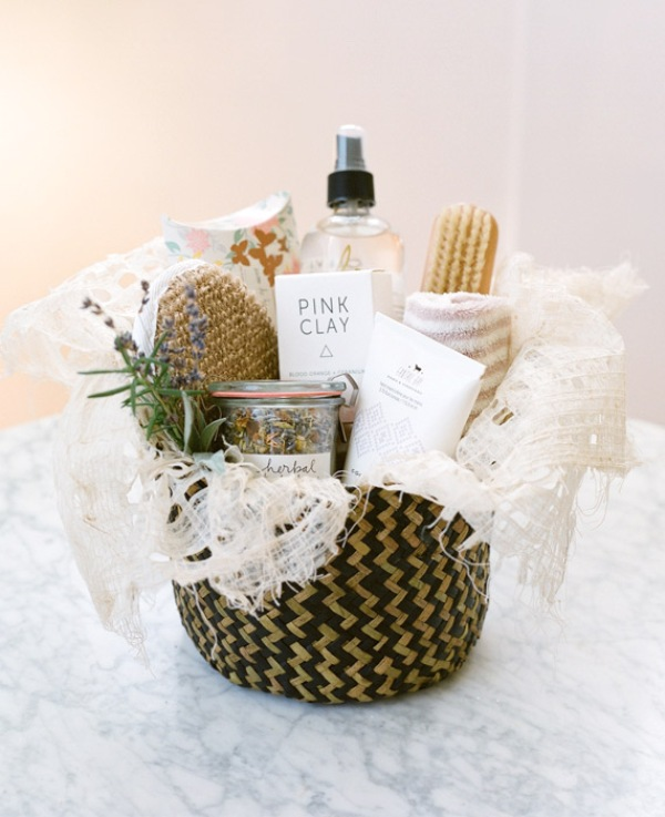 Picture Of pretty and useful diy pamper basket for bridesmaids  1