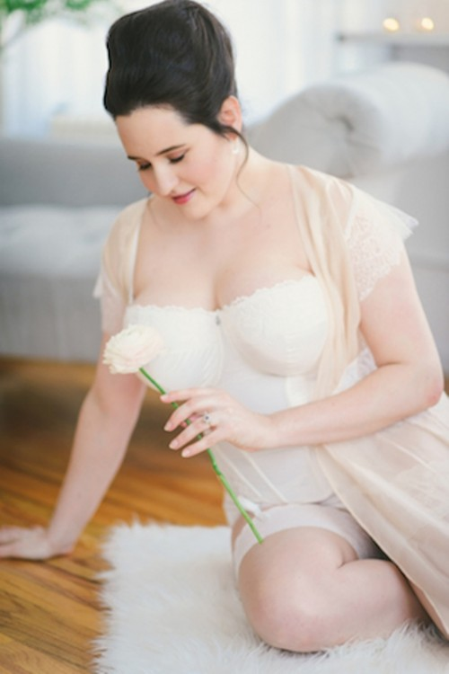 Pretty Curvy Girl Bridal Boudoir Shoot