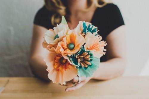 Pretty Diy Crepe Paper Wedding Flowers