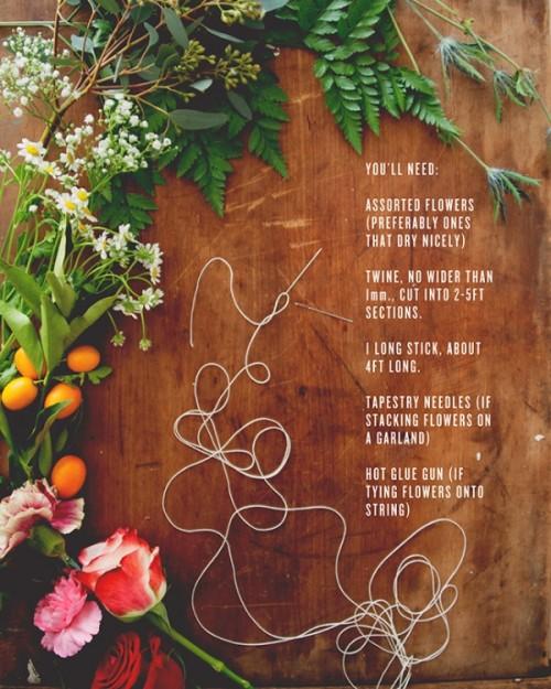 Pretty Diy Flower Garland For Your Spring Wedding Decor