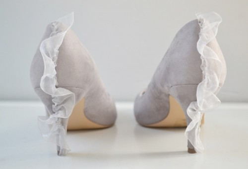Pretty Diy Ruffle Pumps To Adorn Your Wedding Shoes