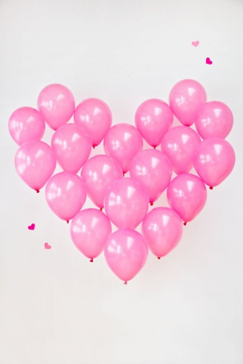 Pretty In Pink DIY Giant Balloon Heart