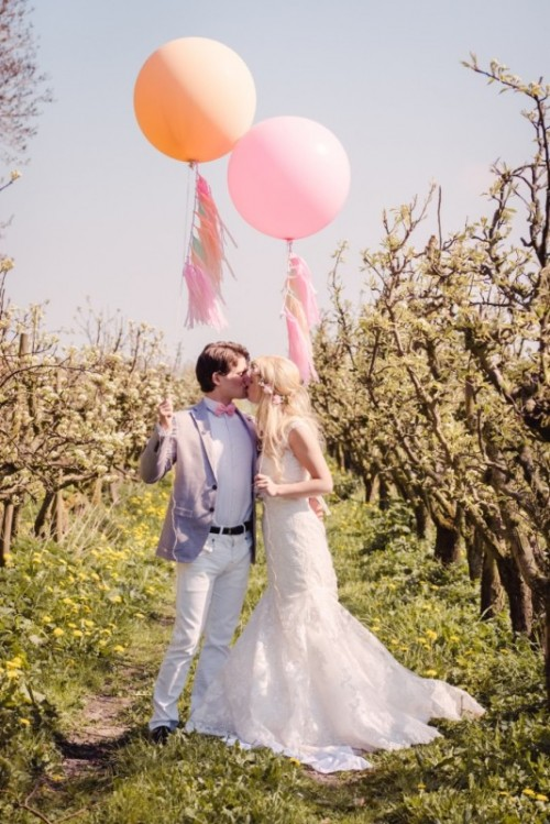 Pretty Pastel Wedding Inspiration In Rustic Style