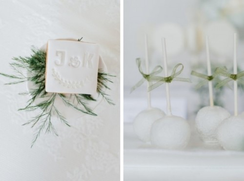 Pure And Natural Green And White Wedding Inspiration