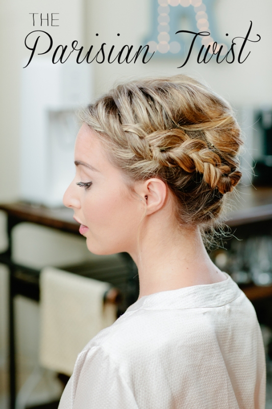 Quick And Easy Diy Parisian Twist Hairstyle For Bridesmaids