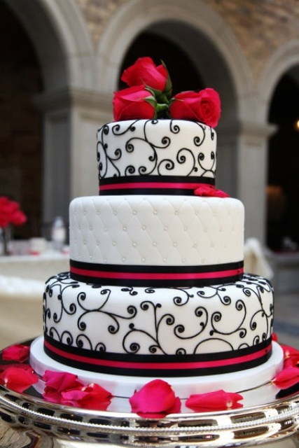 Wedding Decorations Red Black And Decoration On Pinterest Red And