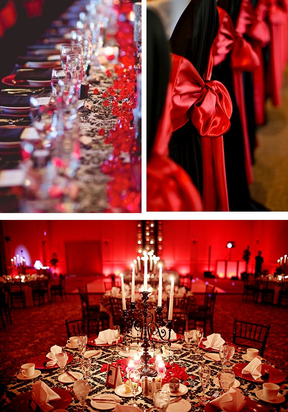 30 red and black wedding decor ideas weddingomania red and black wedding ideas junglespirit Image collections