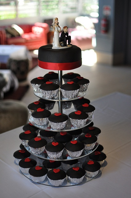Tbdress Blog A Romantic Combination Black And Red Wedding Theme