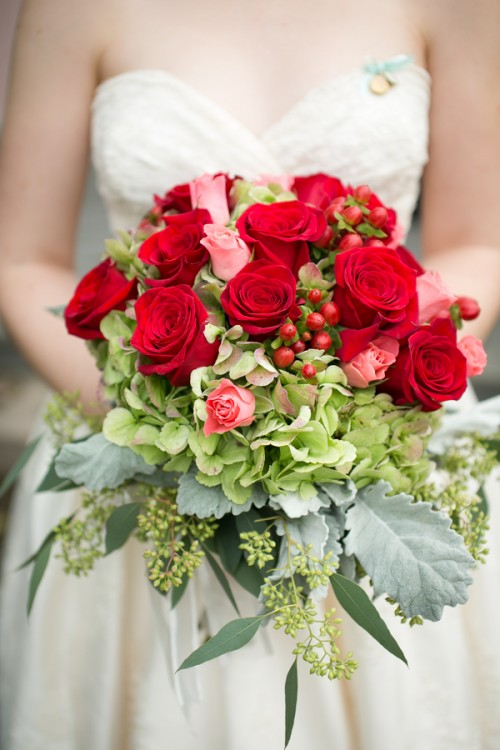 Red Diy Vitnage Wedding