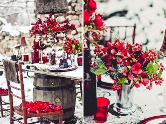 Red Winter Wedding Inspirations