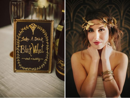 Refined Black And Gold Wedding Inspiration