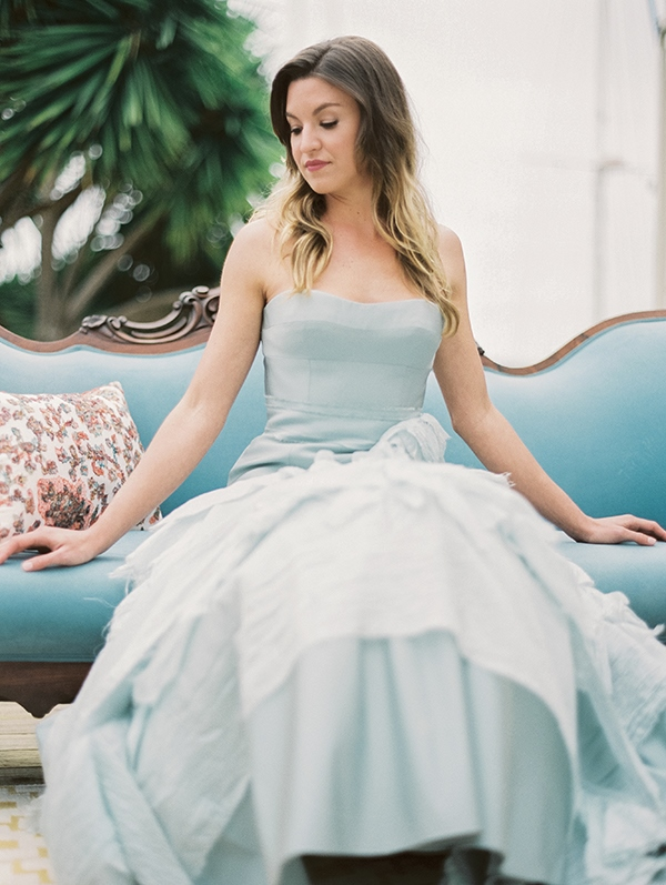 Picture Of refined nautical shoot with a stunning blue wedding dress  15