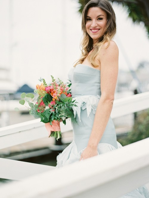 Refined Nautical Shoot With A Stunning Blue Wedding Dress ...