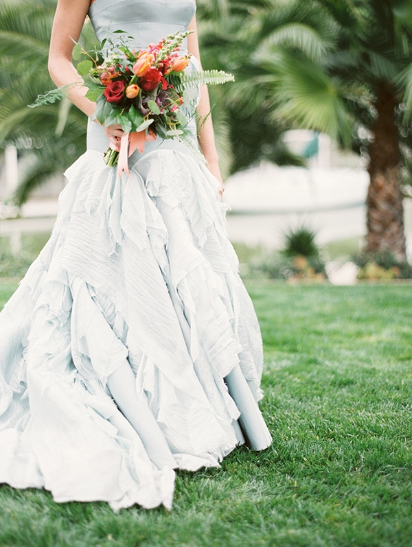 Picture Of refined nautical shoot with a stunning blue wedding dress  4