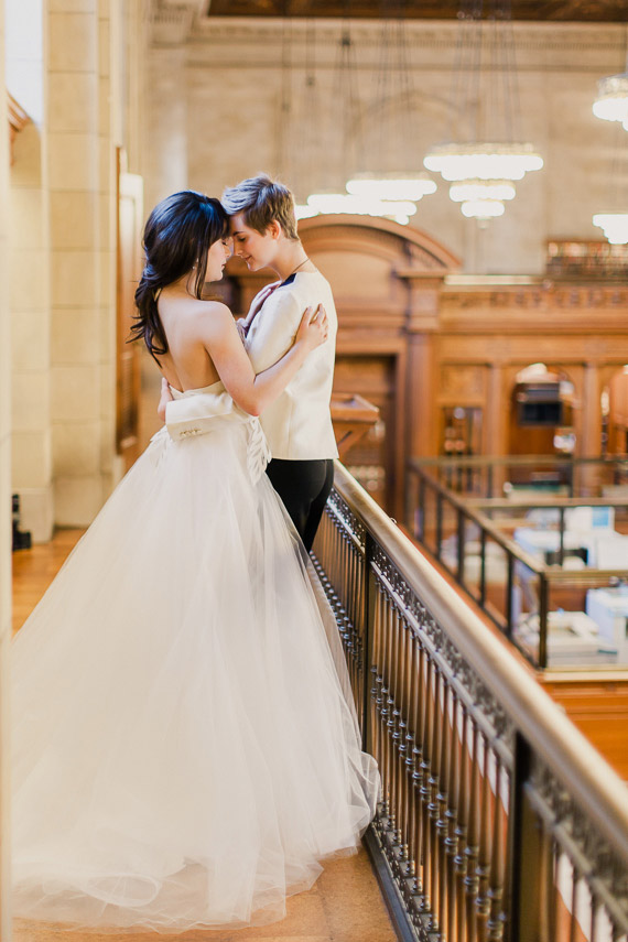 Picture Of Refined Same Winter Wedding In New York Public Library 2
