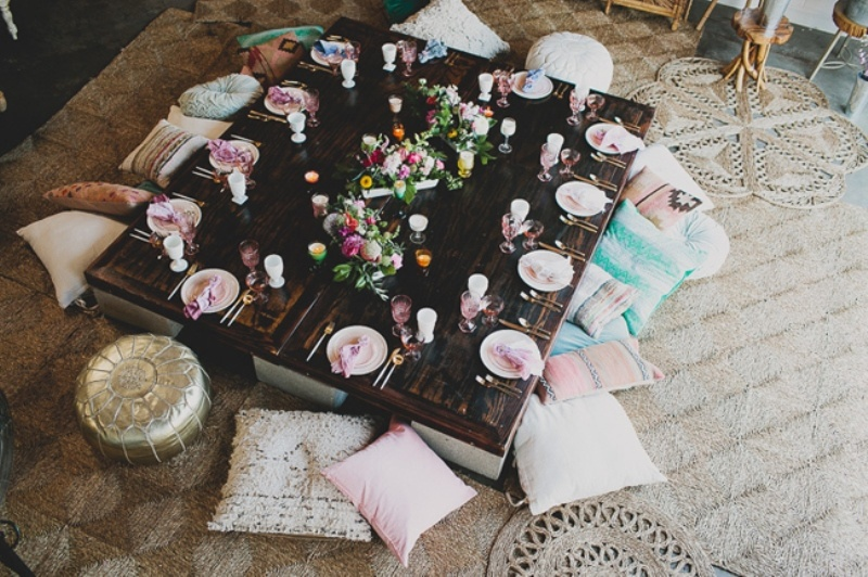 Picture Of relaxed and boho inspired summer flower bridesmaids party  1