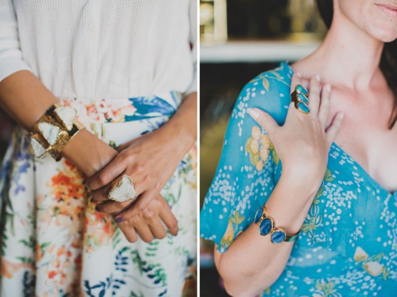 Picture Of relaxed and boho inspired summer flower bridesmaids party  21
