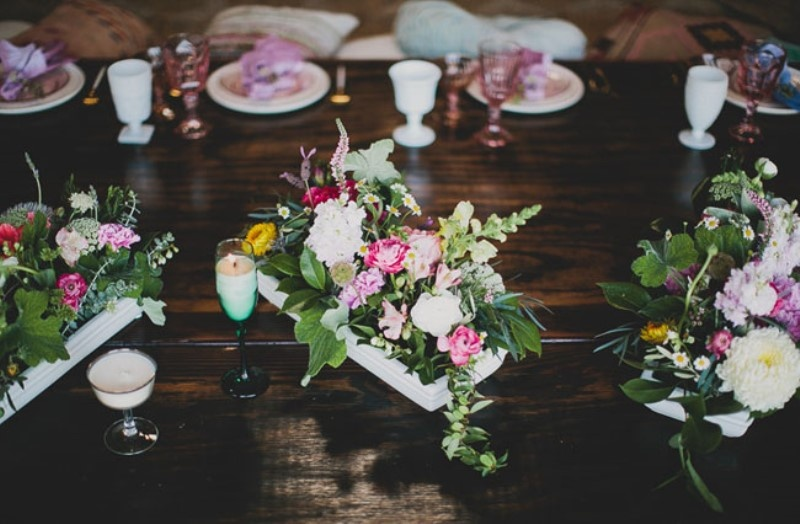 Picture Of relaxed and boho inspired summer flower bridesmaids party  7