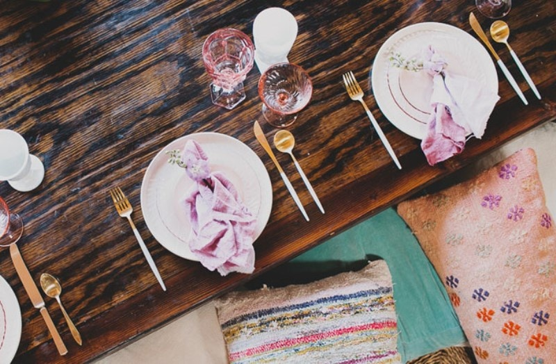 Picture Of relaxed and boho inspired summer flower bridesmaids party  8