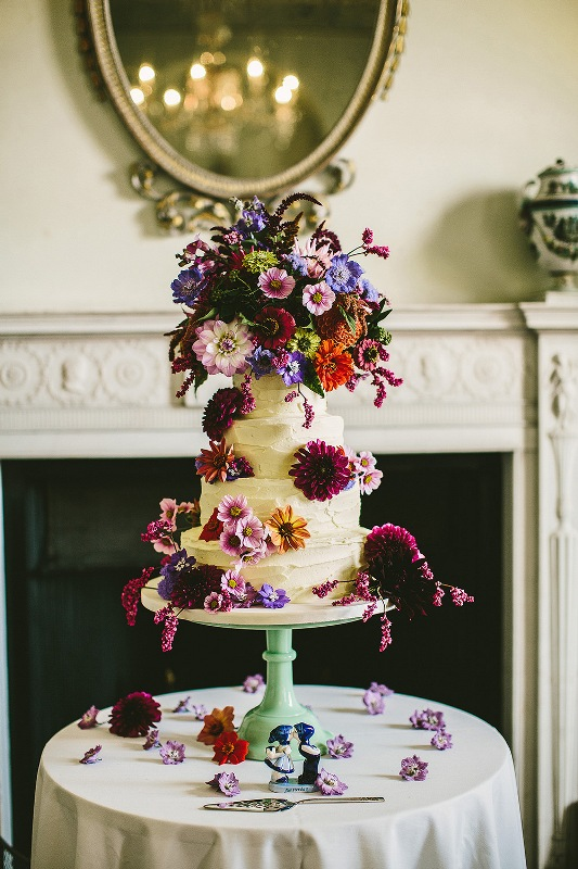 Picture Of relaxed and colorful wedding inspiration filled with flowers  11