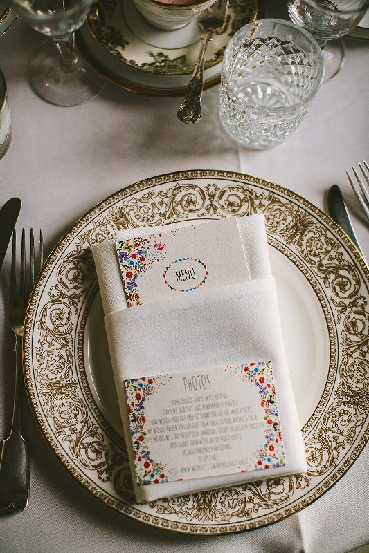 Picture Of relaxed and colorful wedding inspiration filled with flowers  18
