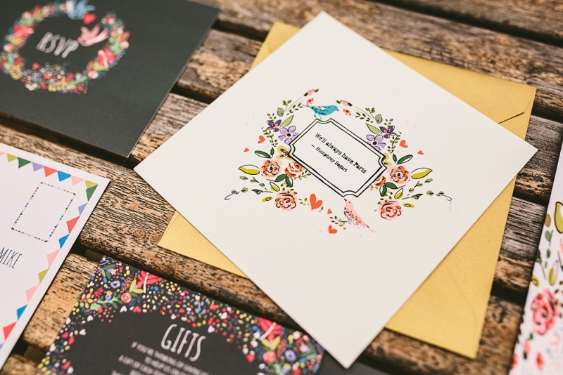 Picture Of relaxed and colorful wedding inspiration filled with flowers  20