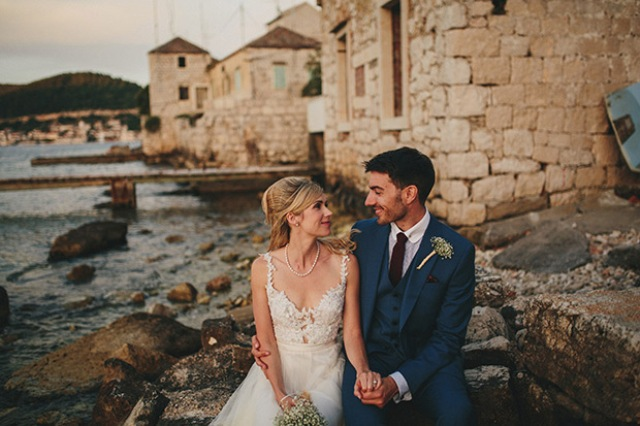 Picture Of relaxed destination garden wedding in croatia  1