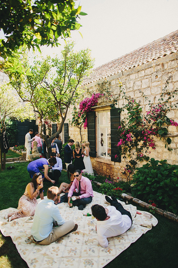Picture Of relaxed destination garden wedding in croatia  11