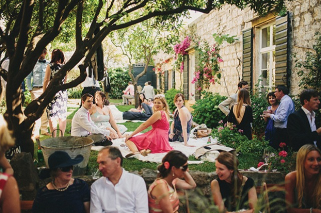 Picture Of relaxed destination garden wedding in croatia  13