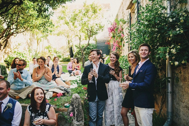 Picture Of relaxed destination garden wedding in croatia  14