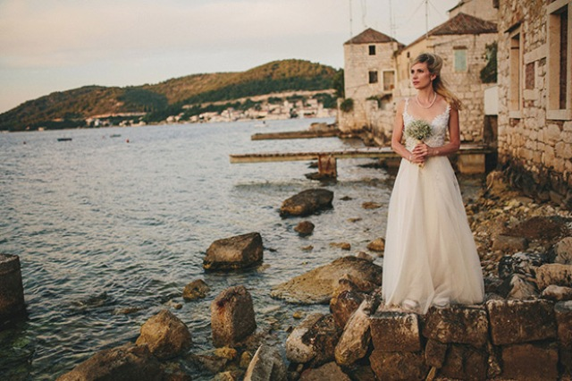 Picture Of relaxed destination garden wedding in croatia  16