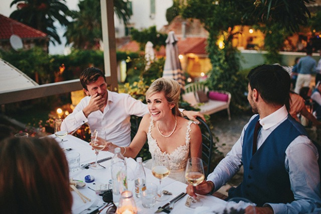 Picture Of relaxed destination garden wedding in croatia  19