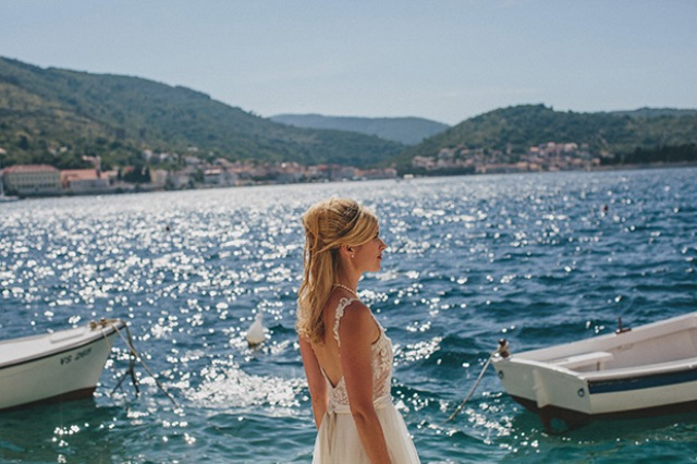 Picture Of relaxed destination garden wedding in croatia  9