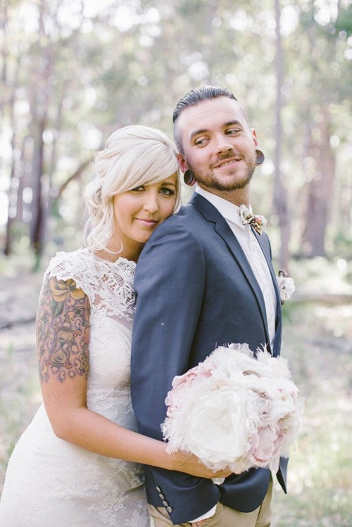 Relaxed Outdoor Rustic Vintage Wedding