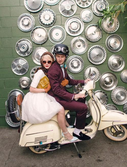 Retro Styled Moto Wedding Inspiration