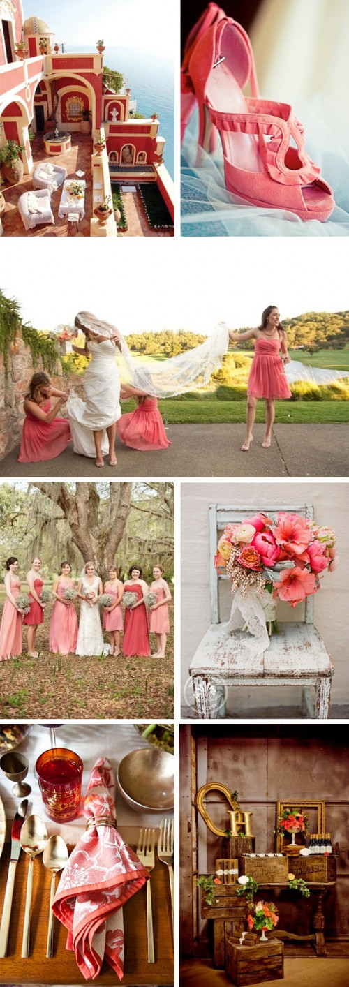 Rich Coral Wedding Inspiration
