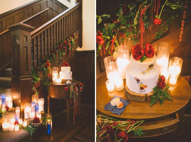 Rich Hues Oxblood And Cobalt Wedding Inspiration
