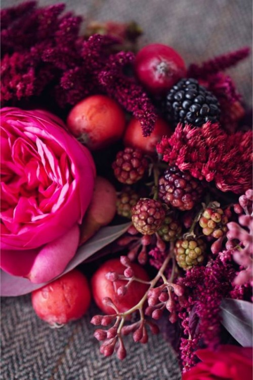 Rich Samba Red And Vivacious Berry Wedding Tablescape Inspiration