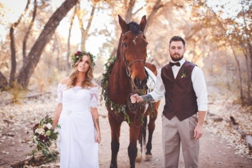 Romantic And Boho-Inspired Woodland Inspiration With Marsala Tones