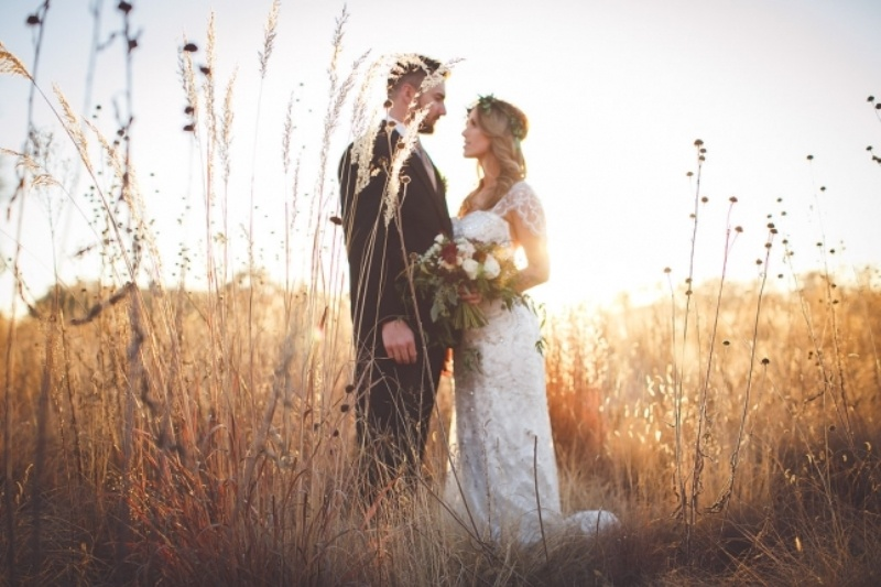 Picture Of romantic and boho inspired woodland inspiration with marsala tones  11