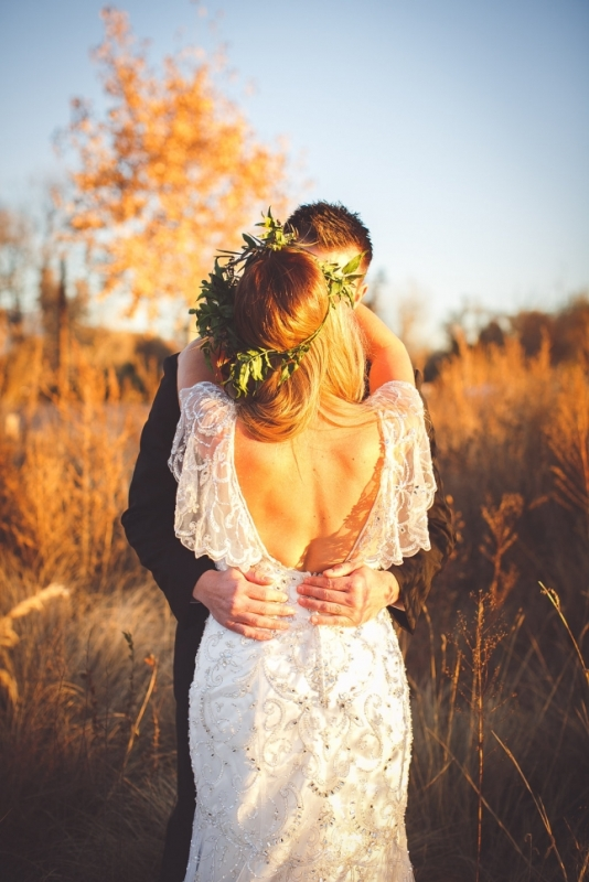 Picture Of romantic and boho inspired woodland inspiration with marsala tones  12