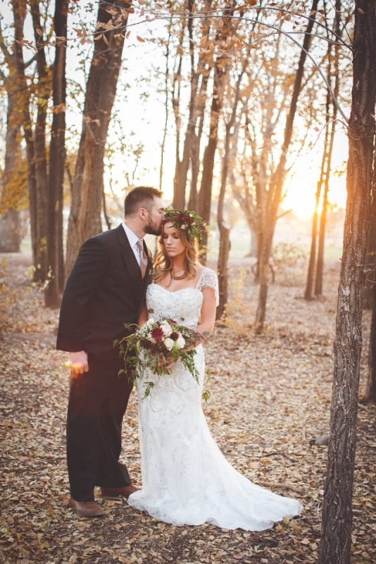 Picture Of romantic and boho inspired woodland inspiration with marsala tones  5